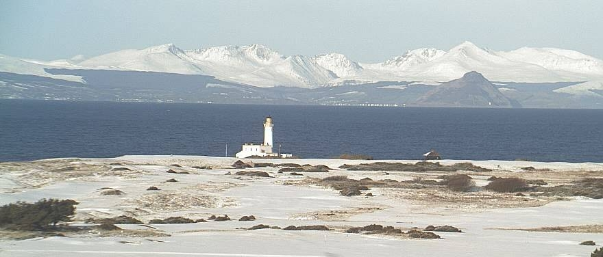 The Turnberry Lighthouse on an enchanting winter day